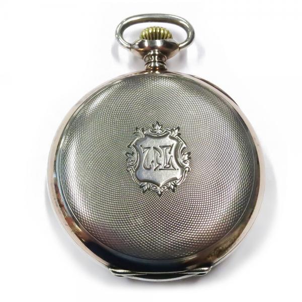 Kultatukku fi  Zenith hopeinen taskukello, 1900 Paris